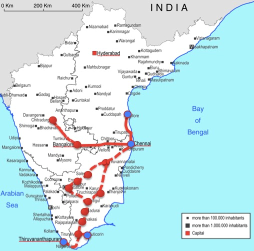 Proposal for the South India Industrial Corridor, with Vizhinjam as an anchor port