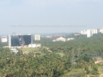 Panorama from top: A small portion of Technopark's various buildings