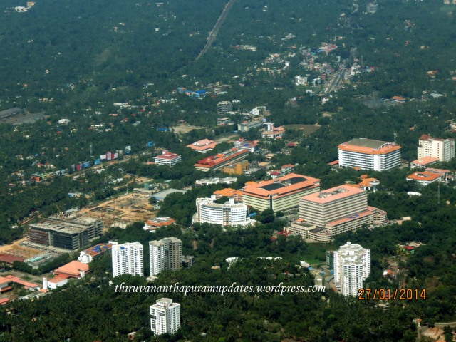 Technopark Phase I. Can see the progress of upcoming TCS Development Centre