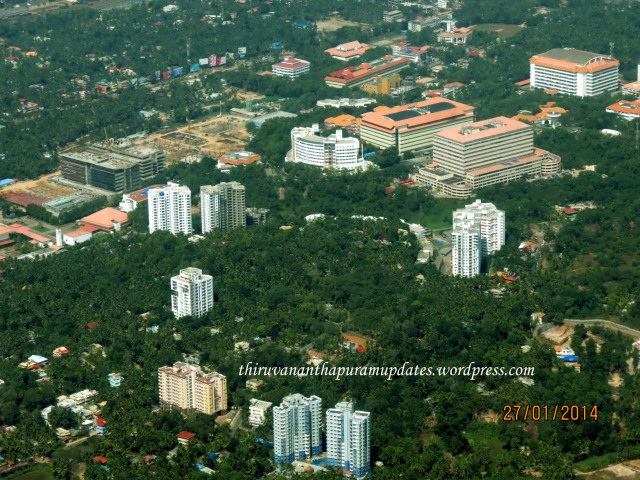 Technopark Phase I. Can see the progress of upcoming TCS