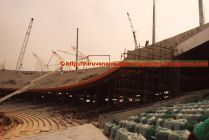 Seats covered with dust-cover sheets of finished segments (27-Dec-2014)