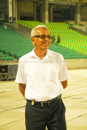 Shri. Anil Kumar Pandala is the General, who lead the troops for IL&FS, as the Vice President. As in-charge of TCRIP, he is the one who keeps the city of Trivandrum's roads and now, this stadium, upto high standards. Our humble request is for him to write a book on managing complex projects in Kerala., which could be of use to future generation of engineers and managers