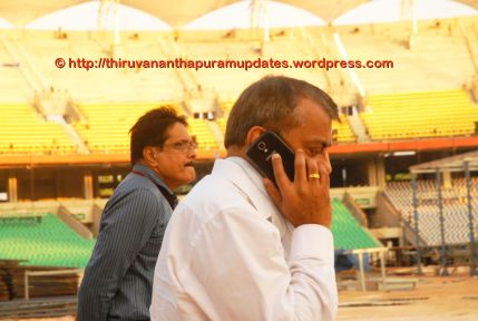 Shri. Anilkumar of National Games Secratariat. He is another person who is always around the venues for National Games, making sure things are on schedule from Kerala Government side.