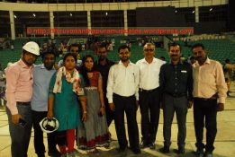 The Team, who worked hard for the Stadium. From left to right: Amit, Sagar,Shatabdi, Ashwani, Israr (behind), Krishnakumar (behind), Atul Shirke, Anil Pandala, Muthanna and Bidappa