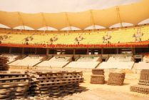 Fibre-glass tiles to protect pitch for National Games ceremony