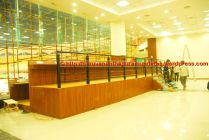 Three tiers of desks with magnificent views
