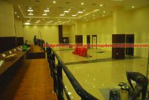 Press room, view from desks