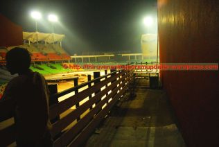 The best vantage point to watch game from pavilion - the balconeys on the sides
