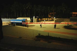 Towards the back gate and service roads